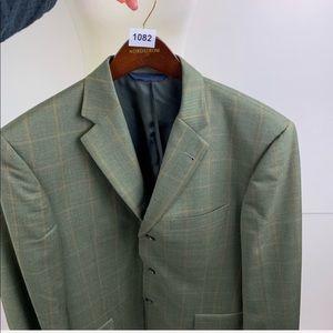 Burberry Suits & Blazers - Burberry Men's Designer Green Plaid Blazer Jacket